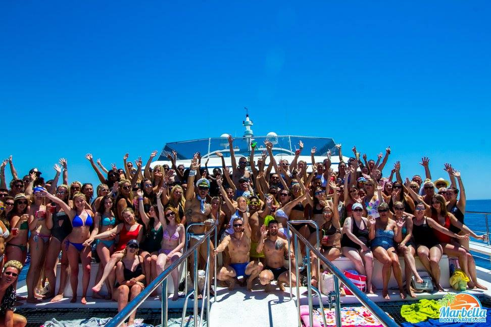 Marbella boat party 2020